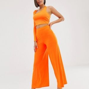 ASOS orange two piece